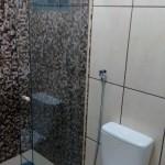 Banheiro da Pousada La Villa em Jaú
